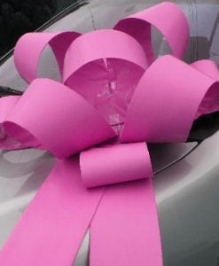 Big Pink Car Bows