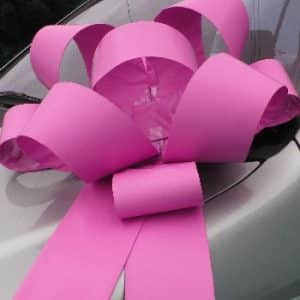 Big Pink Car Bows