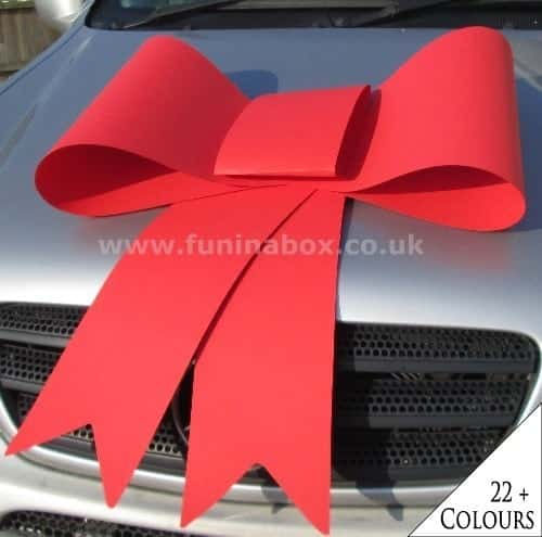Buy Big Red Car Bows In The Uk Next Day Delivery Available