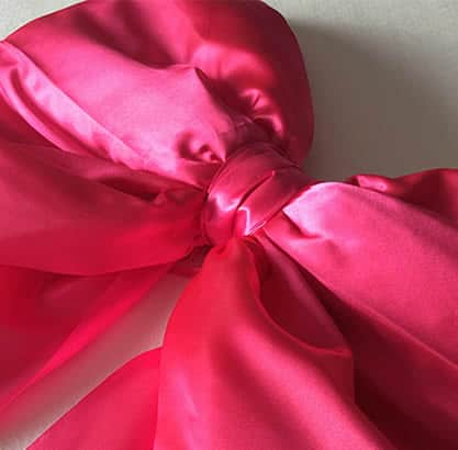 Big Bright Pink Satin Shoelace Bow