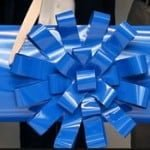 Big Blue Car Bows