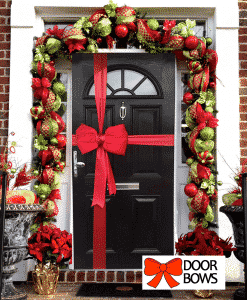 Red Satin Padded Door Bow Decorating Pack (each)