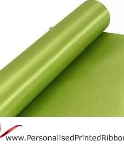 Apple Green Wide Ribbons