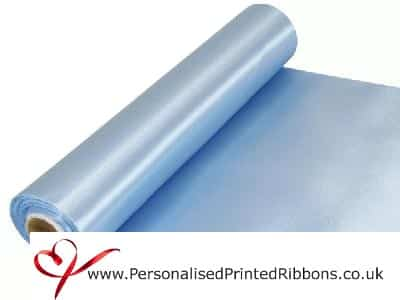 Light Blue Wide Ribbons