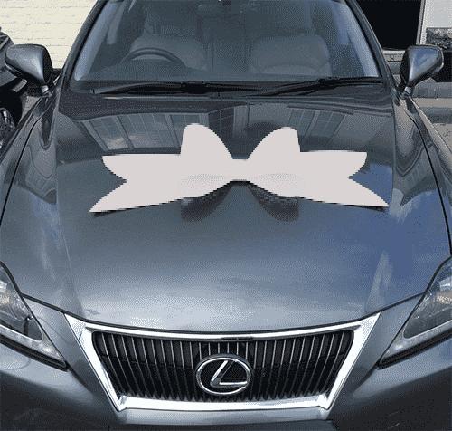 Silver Budget Car Bow