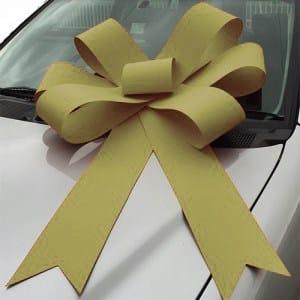 gold bonnet bow