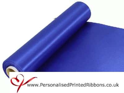 Royal Blue Wide Ribbons