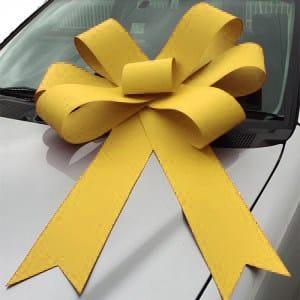 yellow bonnet bow