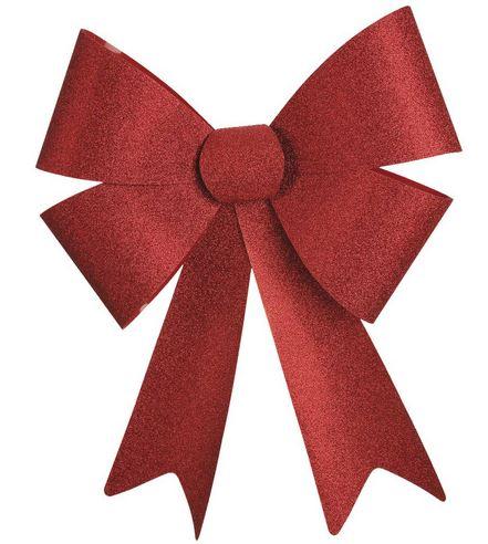Big Red Glitter Bow