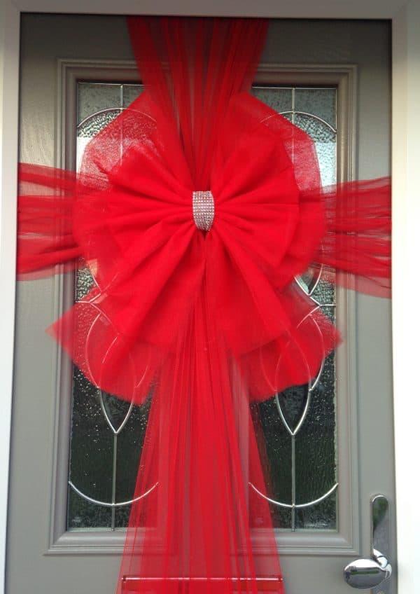 Red Deluxe Door Bow