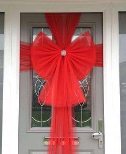 Red Standard Door Bow