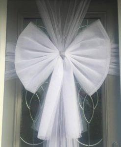 White Door Bow