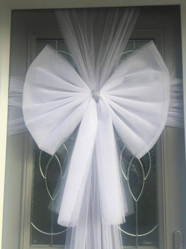 White Door Bow