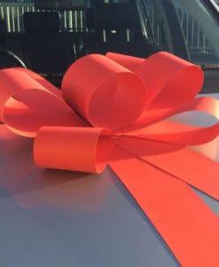 Red Big Card Car Bonnet Bow