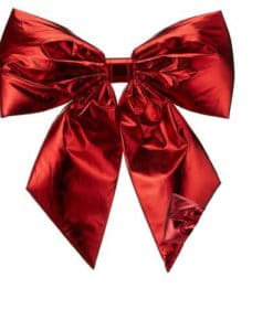 Red Lame Bow
