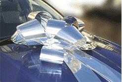 Big Silver Car Bows