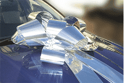 Big Silver Car Bows