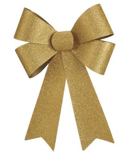 Big Gold Glitter Bow