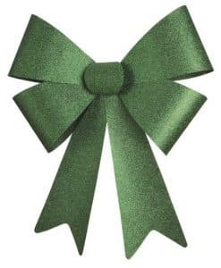 Big Green Glitter Bow