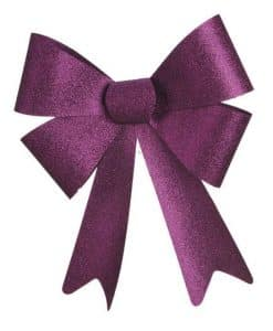Big Purple Glitter Bow