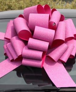 Glitter Pink Foil Giant Bow Ribbon