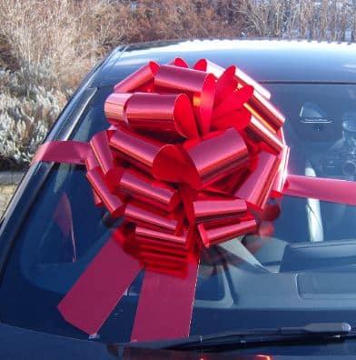 MEGA Metallic Red Giant Car Bow