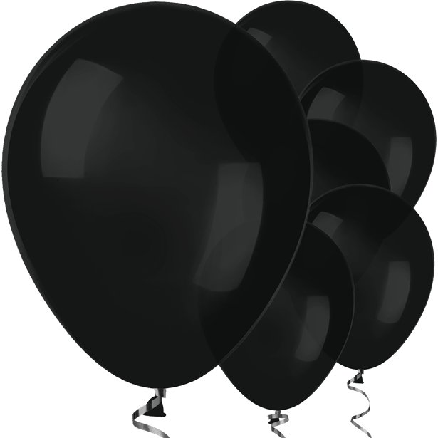 Black Latex Balloons