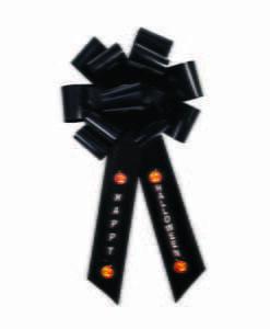 Big Halloween Black Bow Decoration