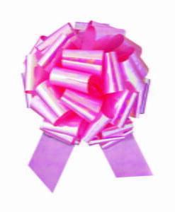 Pink Iridescent Big Pull Bow